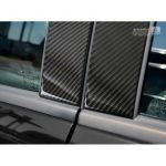 B-Pillars covers Mercedes-Benz A-Class W169 Hatchback 5-Doors 2008-2012 Black Carbon