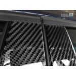 B-Pillars covers BMW 1-Series F20 5-Doors 2015- Black Carbon