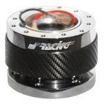 Simoni Racing Quick Release Steering wheel hub Carbon/Chrome - Length 55mm